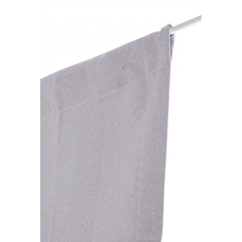 vitrage occultant 80 x 160 cm passe tringle uni gris galet