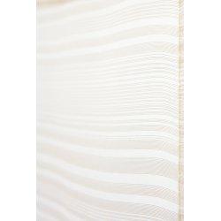 paire de voilage vitrage a fines rayures en 60x120 cm ecru ecru