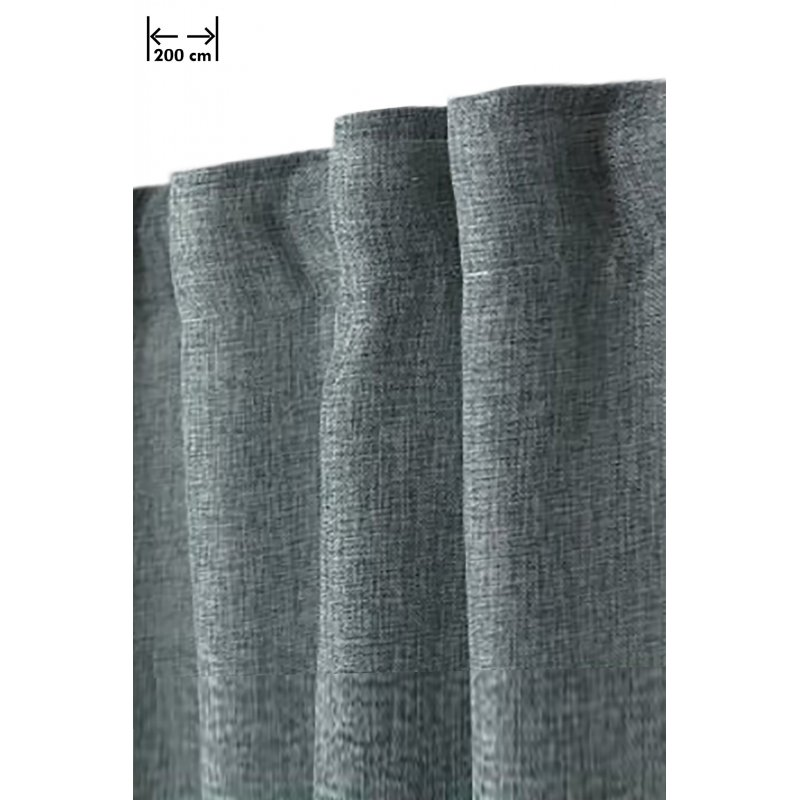 rideau effet chine 200 x 270 cm grande largeur et grande hauteur a galon fronceur effet lin naturel vert sauce