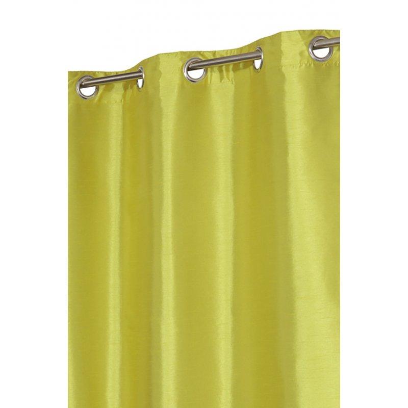 double rideau taffeta reversible vert
