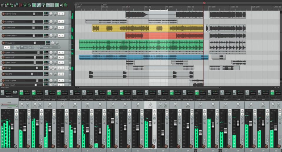 Interface du logiciel Reaper