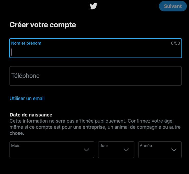 Créer son compte twitter: les étapes