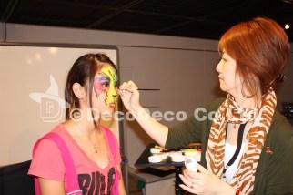 Japan Facepainting&BodyArt Show 2009_HitomiFukai_フェイスペインティングセミナー横浜赤レンガ倉庫の画像