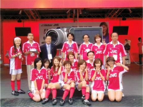 2002サッカーワールドカップ・ビクターJVCフェイスペインティングの画像