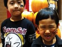 フェイスペインティングの画像 ハロウィン デコデコ かぼちゃ こうもり