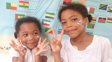 ズーラシア アフリカン・サマーフェスティバル フェイスペインティングの画像