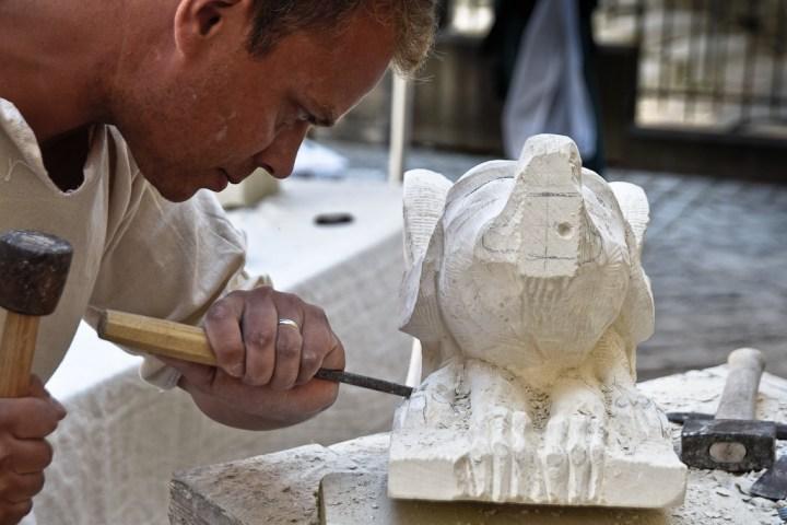 Le sculpteur Jean-Christophe Yvon