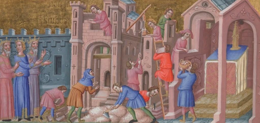 Bâtisseurs d'église et de château.
