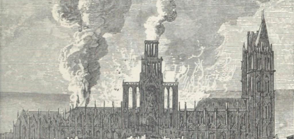 Incendie de la cathédrale de Rouen en 1822