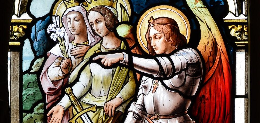 Saint Michel, sainte Cathérine, sainte Marguerite