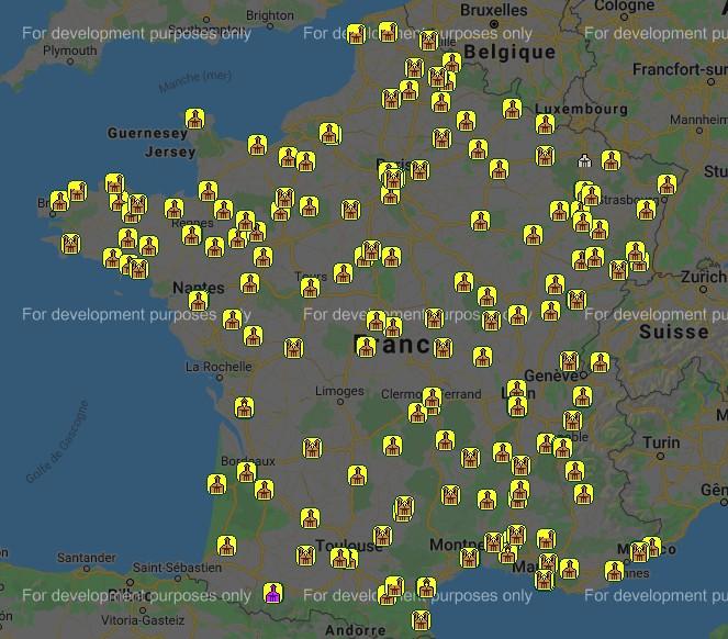 carte des basiliques françaises