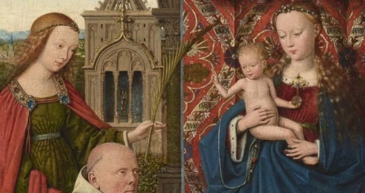 La Vierge à l'enfant avec sainte Élisabeth, sainte Barbe et Jan Vos