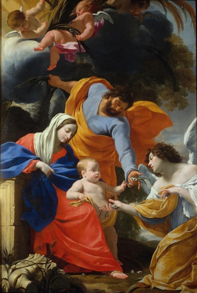 Repos de la Sainte Famille en Egypte Simon VOUET