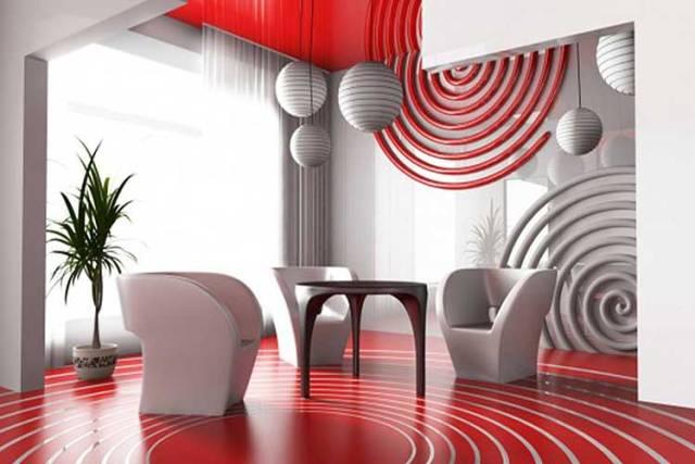 Kırmızı dekorasyon