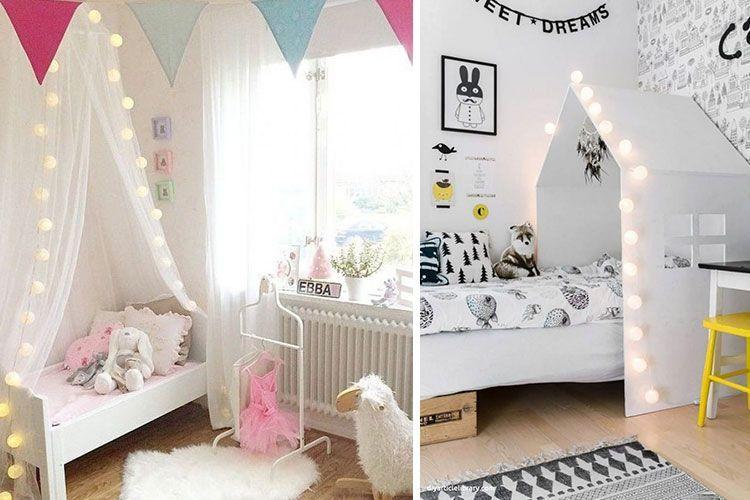 çelenkli çocuk odası dekorasyonu