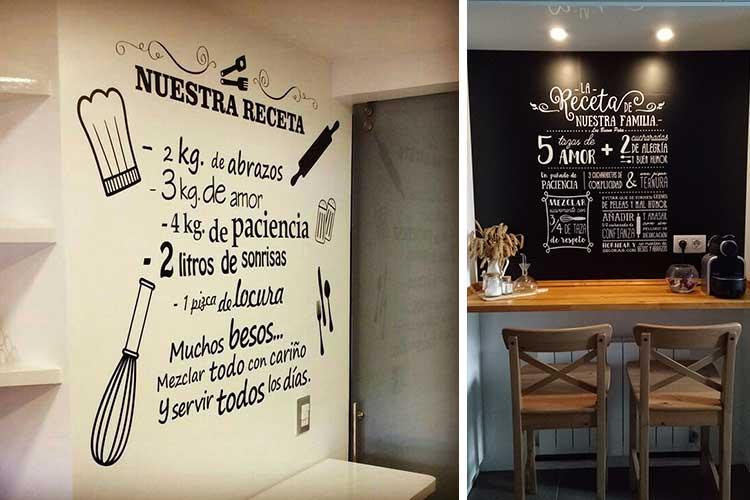 Tipografik vinillerle mutfak dekorasyonu