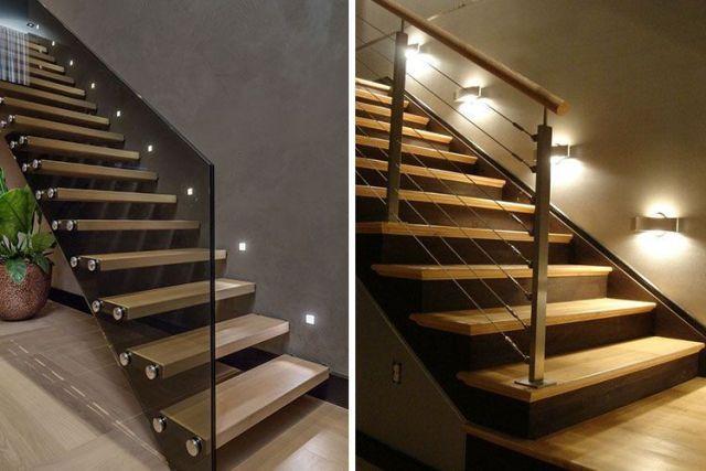 Merdivenlerde yönlendirme aydınlatması