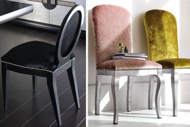 Kadife sandalyeler