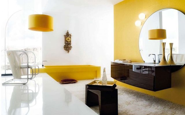 sarı-banyo-dekorasyon