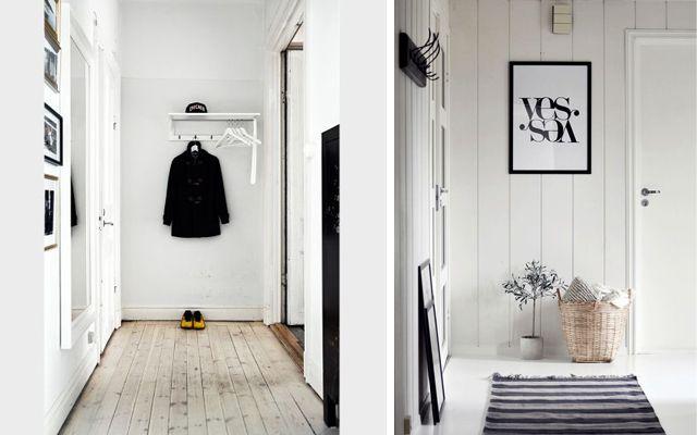 İskandinav tarzı giriş dekorasyonu