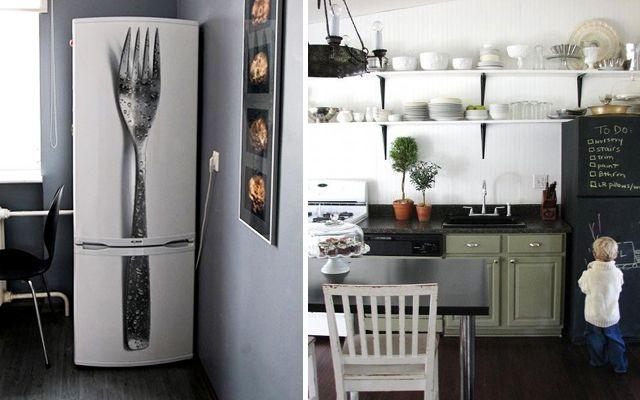 Mutfaklar buzdolapları ile nasıl dekore edilir
