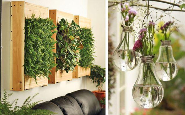 Mekanların bitkilerle, dikey bahçelerle ve saksılarla süslenmesi