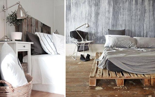 Yatak odalarını paletlerle dekore etme fikirleri