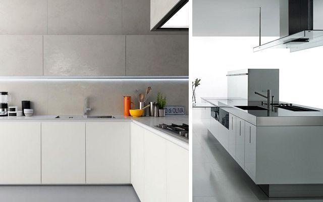 Modern avangart mutfak dekorasyonu