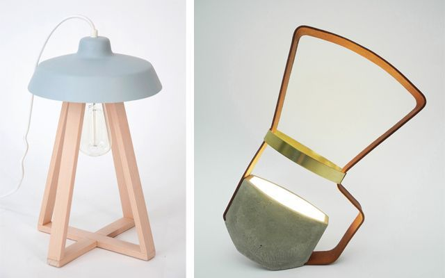 Yan masalar için modern lambalar