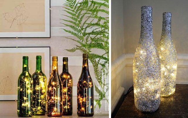 Şişe lambalarıyla süslemek için 40 fikir