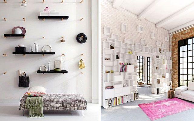 Özgün, modern ve dekoratif raflar