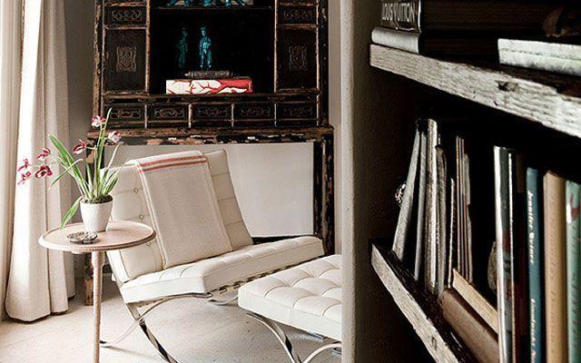 Mies Van der Rohe'den Barcelona koltuklu oturma odası dekorasyonu
