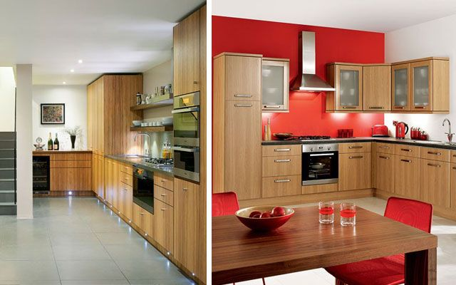 L şeklindeki mutfaklar