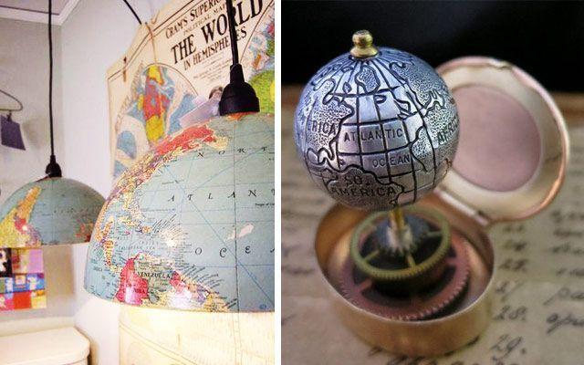 İç dekorasyonda karasal küre