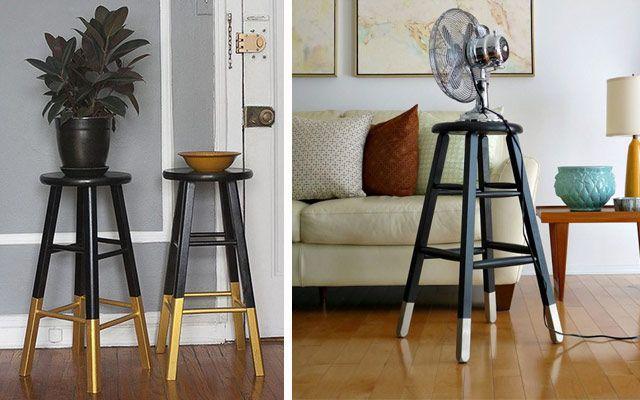 Düşük maliyetli bir dekorasyon için iki renkli ayaklar