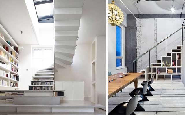 Raflı merdiven altı boşluktan nasıl yararlanılır
