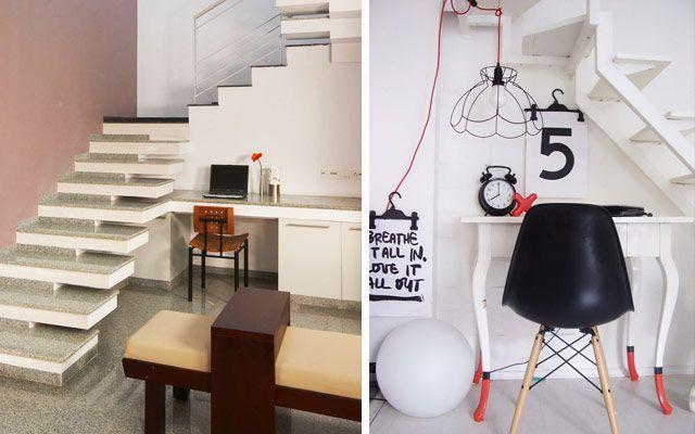 Merdiven altı boşluklardan yararlanma - Masalar ve çalışma alanları