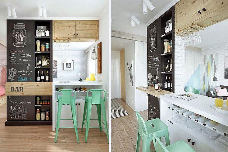 barlı küçük mutfaklar