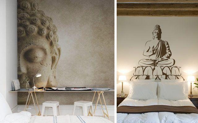 Buddah ile duvarları dekore edin
