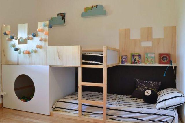 Çocuk odaları dekorasyonunda Kura yatak