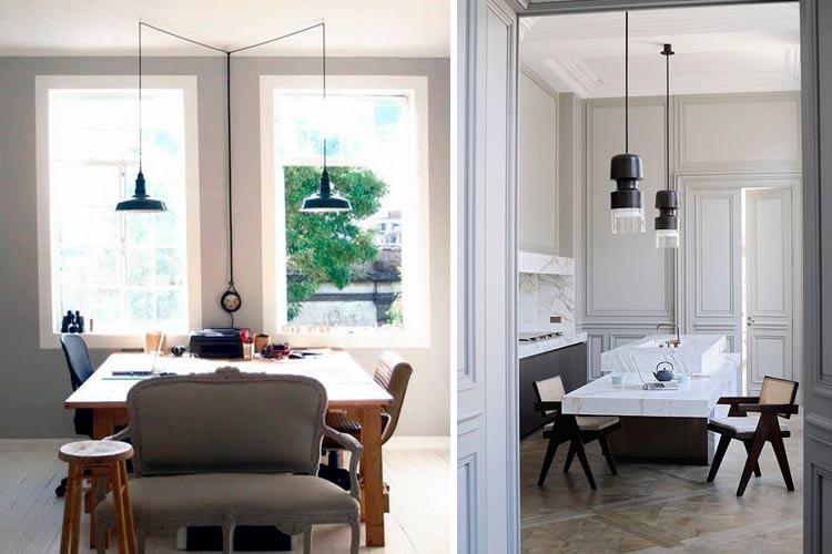 Yemek odası için çift lambalar