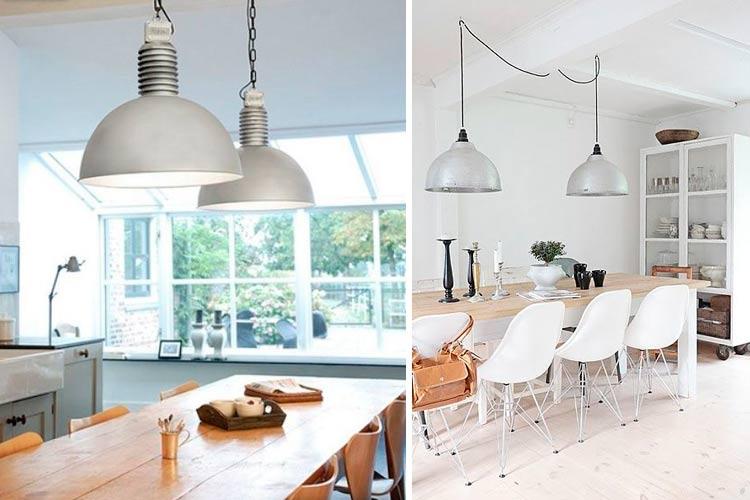Yemek odası için iki lamba