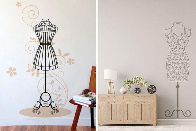 Mankenlerle dekorasyon