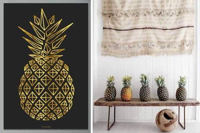 ananas ile süslemek için fikirler