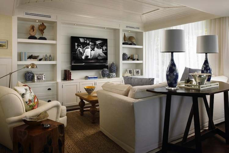 İç dekorasyonda asma televizyon sistemleri