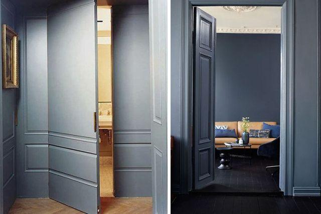 Aynı renkteki duvarları ve marangozluğu dekore etme fikirleri