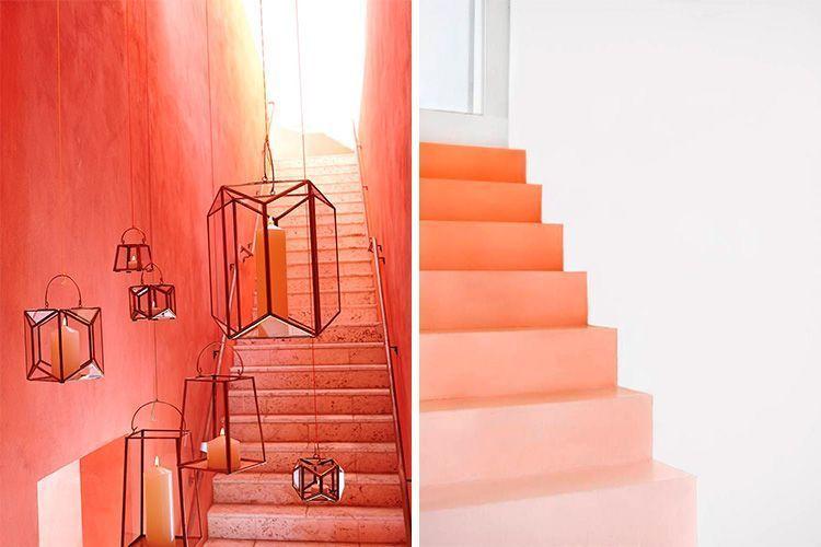Yaşayan Mercan rengi dekorasyon