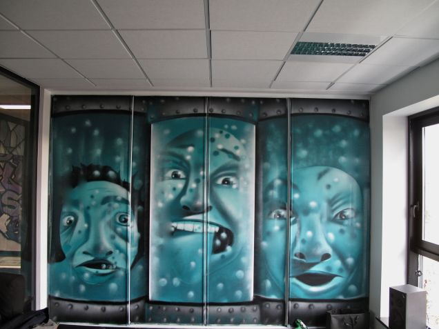 deco graffiti moderne entreprise