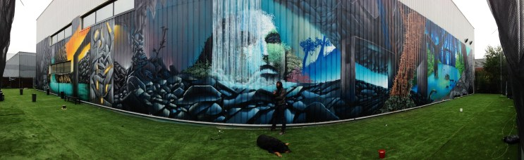 peinture murale grand format