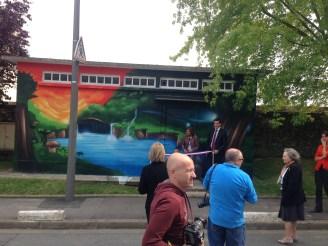 inauguration fresque murale